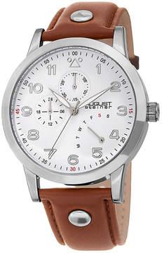 August Steiner Mens Brown Strap Watch-As-8244ss