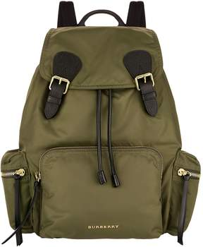 Burberry Large Logo Backpack - GREEN - STYLE