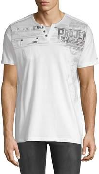 ProjekRaw PROJEK RAW Men's Jersey Short-Sleeve Cotton Henley