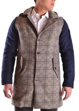 Geospirit Men's Multicolor Wool Coat.