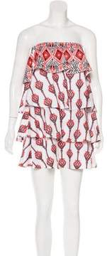 Caroline Constas Embroidered Strapless Dress w/ Tags