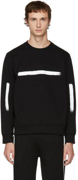 Neil Barrett Black Brush Stroke Sweatshirt