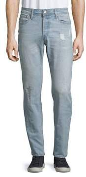 Jack and Jones Relaxed-Fit Distressed Jeans