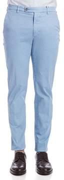 Berwich Men's Light Blue Cotton Pants.