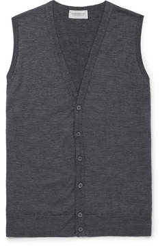 John Smedley Huntswood Mélange Merino Wool Sweater Vest