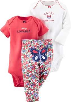 Carter's Baby Girls 3-pc. Lovable Bodysuit Set
