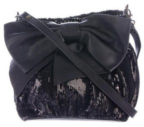 Red Valentino Sequin-Embellished Shoulder Bag