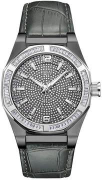JBW Diamond Mens Gray Strap Watch-J6350c