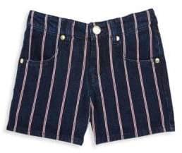 Little Marc Jacobs Little Girl's and Girl's Stripe Denim Shorts