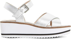 Dune Kassius metallic-leather sandals