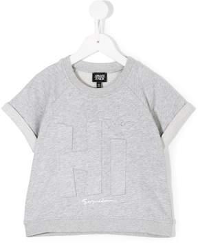 Emporio Armani Kids textured-print T-shirt
