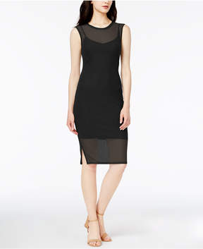 Bar III Sheer Mesh Bodycon Dress, Created for Macy's