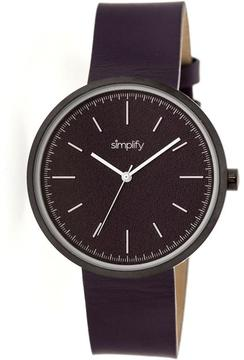 Simplify The 3000 Collection SIM3006 Unisex Watch with Leather Strap
