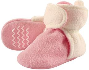 Hudson Baby Light Pink Fleece-Lined Booties - Girls
