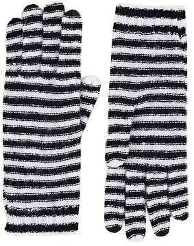 Barneys New York Women's Striped Cashmere-Blend Gloves