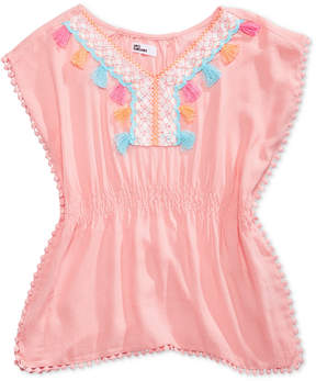 Epic Threads Crochet-Trim Caftan Top, Big Girls, Created for Macy's