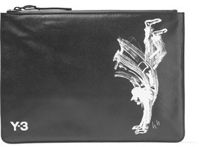Y-3 + Adidas Originals Printed Twill Clutch