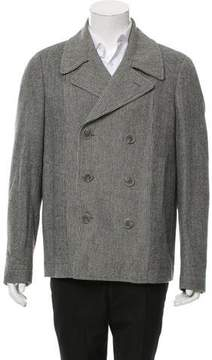 Calvin Klein Collection Double-Breasted Wool Peacoat