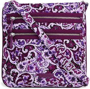 Vera Bradley Lilac Paisley Iconic Triple-Zip Hipster Crossbody Bag - LILAC - STYLE