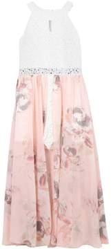 Speechless Girls 7-16 Rhinestone Accent Floral Maxi Romper