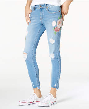 American Rag Juniors' Floral Skinny Jeans, Created for Macy's
