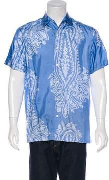 Ralph Lauren Purple Label Printed Silk Shirt