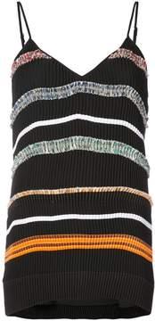 Derek Lam striped spaghetti straps blouse