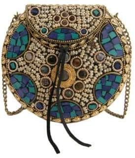 Sam Edelman Beatrice Embellished Iron Circle Crossbody Bag