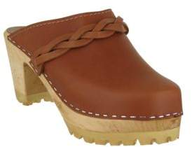 Mia Elsa Leather Clogs