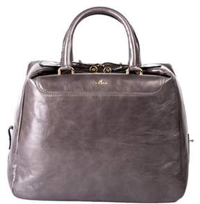 Hogan Women's Grey Leather Handbag.