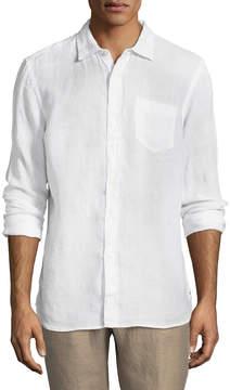 Jachs Men's Solid Spread Collar Sportshirt