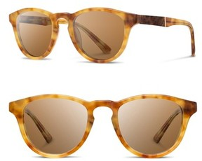 Shwood Men's 'Francis' 49Mm Sunglasses - Amber/ Elm/ Brown