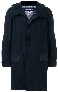 Junya Watanabe military style hooded jacket