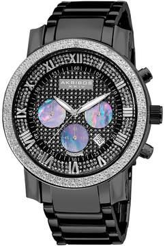 Akribos XXIV Mens Black Strap Watch-A-439bk