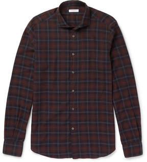 Boglioli Plaid Brushed-Cotton Shirt