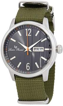 Lucien Piccard Milanese Black Dial Green Textile Strap Men's Watch