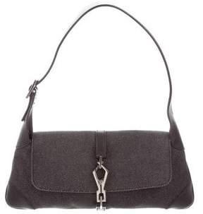 Gucci Denim Bouvier Flap Bag - BLACK - STYLE
