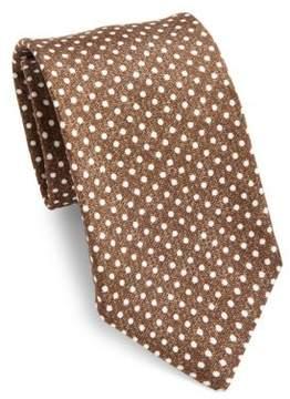 Isaia Dotted Silk Tie