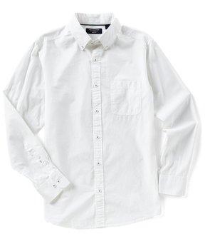 Roundtree & Yorke Trim Fit Long-Sleeve Solid Sportshirt