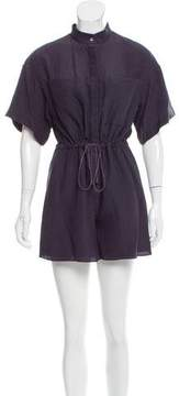 Behnaz Sarafpour Silk Mock Collar Romper w/ Tags