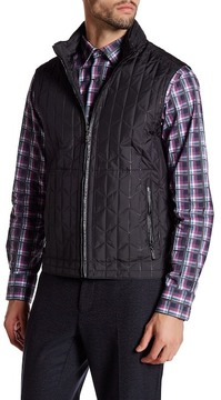 Bugatchi Quilted Stowable Hood Vest