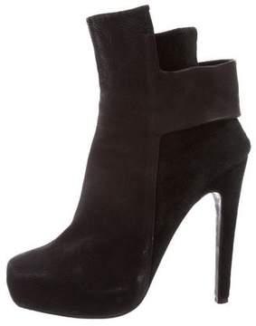 Aperlaï Leather Platform Booties
