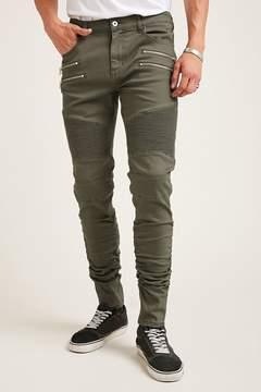 21men 21 MEN Ruched Moto Jeans