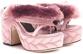 Marco De Vincenzo Embellished satin sandals