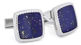 Hart Schaffner Marx Rhodium Plated Cufflink With Mother Of Pearl.