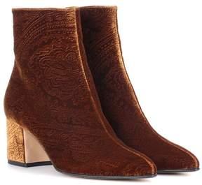 Etro Velvet ankle boots