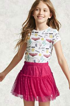 Forever 21 Girls Lace Shirred Skirt (Kids)