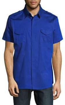 Karl Lagerfeld Paris Short-Sleeve Button-Down Shirt