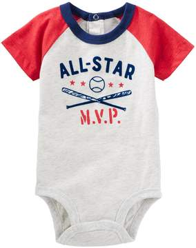 Osh Kosh Oshkosh Bgosh Baby Boy All-Star MVP Baseball Raglan Bodysuit