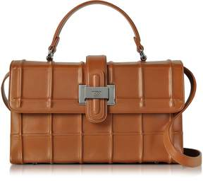 Rodo Brown Nappa Leather Lunch Bag